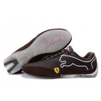 2018 Outlet Puma Ferrari Sneakers Chocolate/Brown/White 103