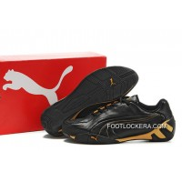 2018 New Style Puma Fluxion Ii Shoes Black/Gold