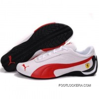 Puma Future Cat GT Ferrari Sculptural Shoes In White Red 2018 Top Deals