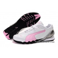 Puma New Style Grit Cat III Shoes White/Pink 2018 Best