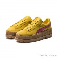 FENTY SUEDE CLEATED CREEPER WOMENS PUMA Lemon-Carmine Rose-Vanilla Ice Cheap To Buy