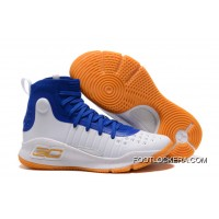 Under Armour Curry 4 Basketball Shoes Blue White Orange New Style