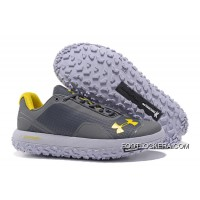 Latest Under Armour Fat Tire Low Grey Yellow Running Shoes New Release