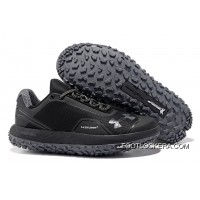 "Newest Under Armour Fat Tire Low ""Triple Black""Hot Sell Lastest"