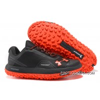 Under Armour Fat Tire Low Black Orange Running Shoes For Sale