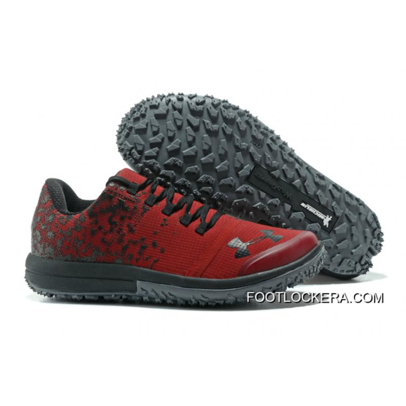 Under Armour Fat Tire Low Running Shoes Red Black New Release