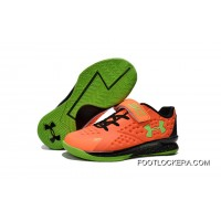 Under Armour Kids Orange Green Shoes Discount