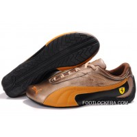 2018 Cheap To Buy Womens Puma Drift Cat II Ferrari Brown/Orange/Black