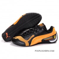 Womens Puma Drift Cat IV In Black-Orange 2018 Top Deals