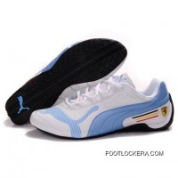 Womens Puma Drift Cat IV In White-Light Blue 2018 New Style