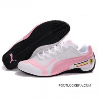 2018 Outlet Womens Puma Drift Cat IV In White-Pink