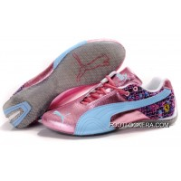 2018 Outlet Womens Puma Ferrari In Pink/Blue/Gray