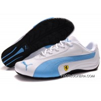 2018 New Release Womens Puma Ferrari In White/Blue