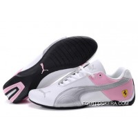 2018 New Release Womens Puma Future Cat GT Ferrari White/Pink/Gray