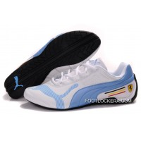 Womens Puma Future Cat Low In White/Light Blue 2018 For Sale