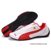 Womens Puma SF Pace Cat II In White-Red 2018 New Style