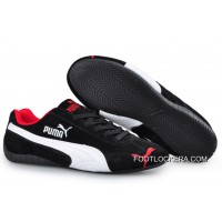 2018 Online Puma Speed Cat SD Trainers Black/White/Red
