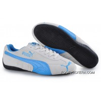 2018 Free Shipping Puma Speed Cat SD Trainers Grey/Blue