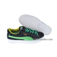 2018 New Year Deals Womens Puma Suede Black-Green