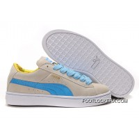 Womens Puma Suede Gray-Blue 2018 New Release