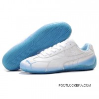 2018 Copuon Code Womens Puma Voltaic Shoes White Blue