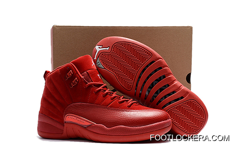 """buy online 4f7f7 7e552 Nike Air Jordan 12 """"Red Suede"""" Shoes For Men Best"""