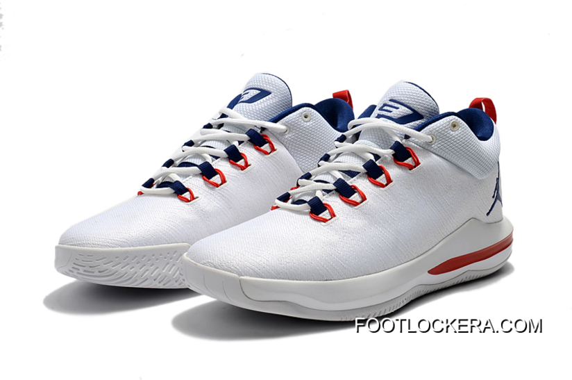 Latest Jordan CP3.X AE White University Red Midnight Navy Cheap To ... 26159cc6a