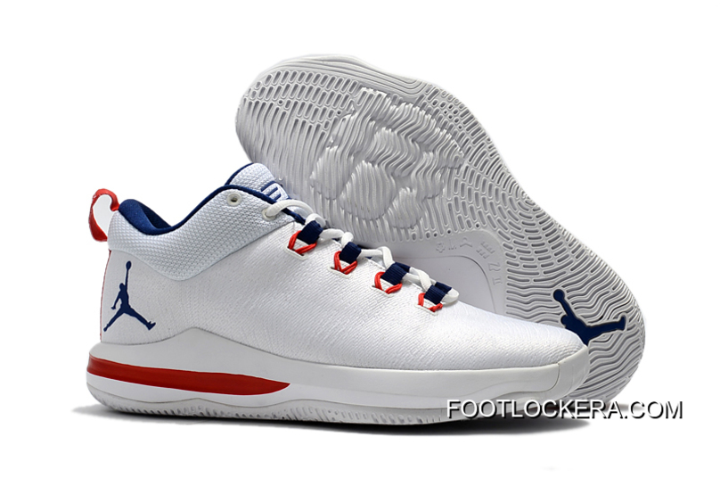 Latest Jordan CP3.X AE White/University Red/Midnight Navy Cheap To Buy