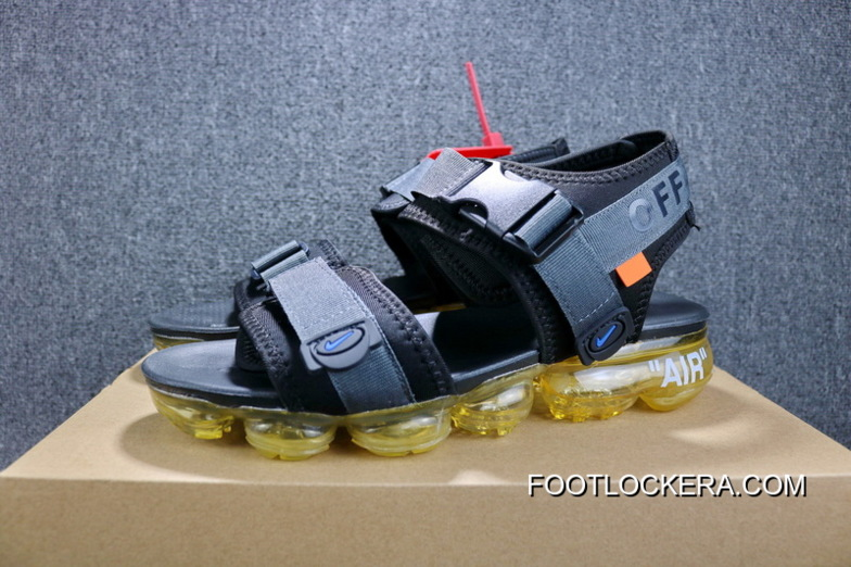 97eb2d24683 OFF-WHITE X Nike Air Zoom Air VaporMax Steam Avant-garde Beach Sandals  850588