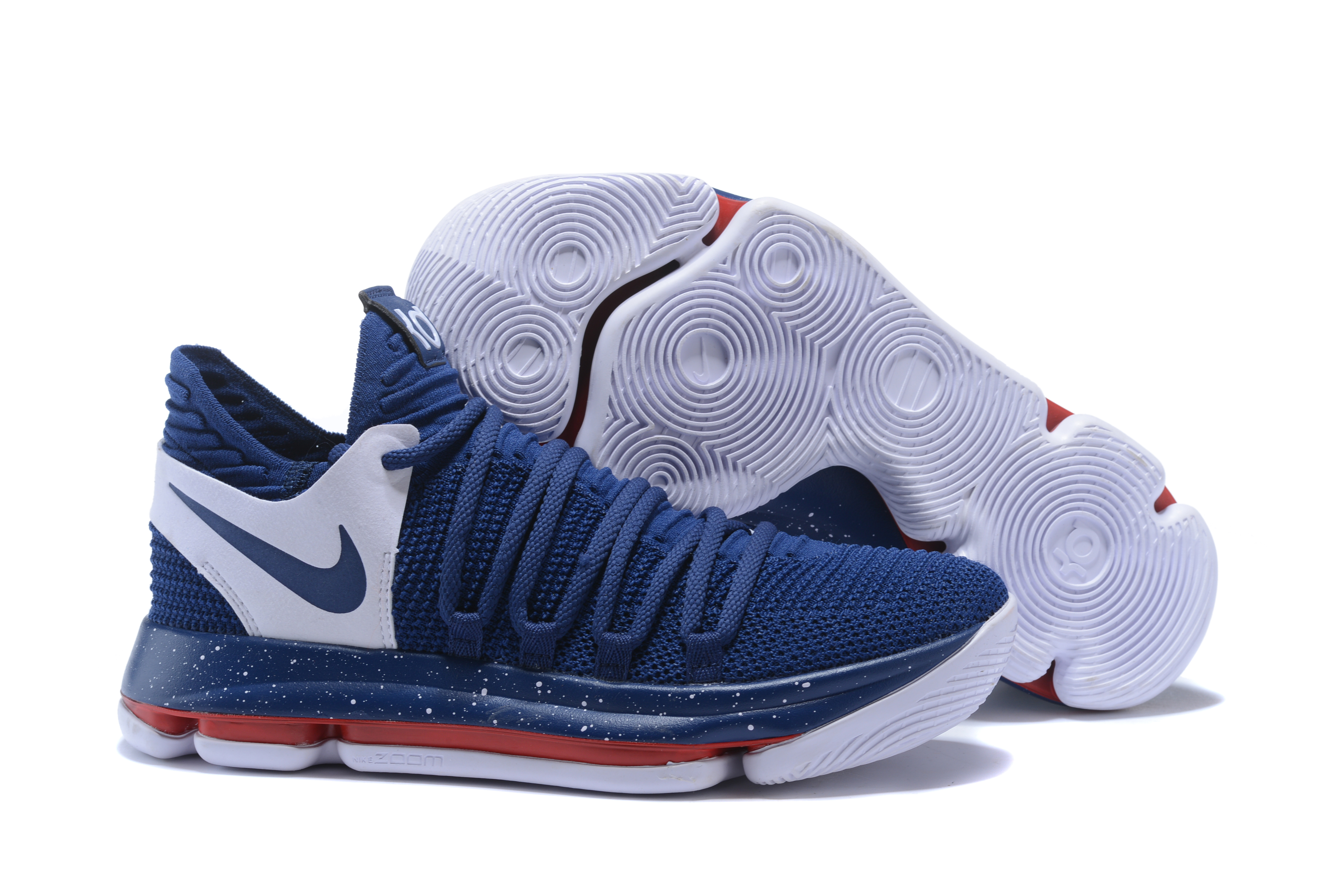 detailed look 87797 398cd Discount Nike KD 10 Navy Blue/White-Red