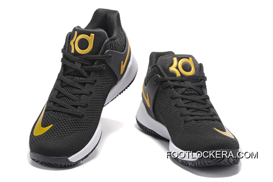 "brand new 59fe8 4c864 New Released Nike KD Trey 5 Knit ""Black Gold""Shoes For Men Copuon Code"