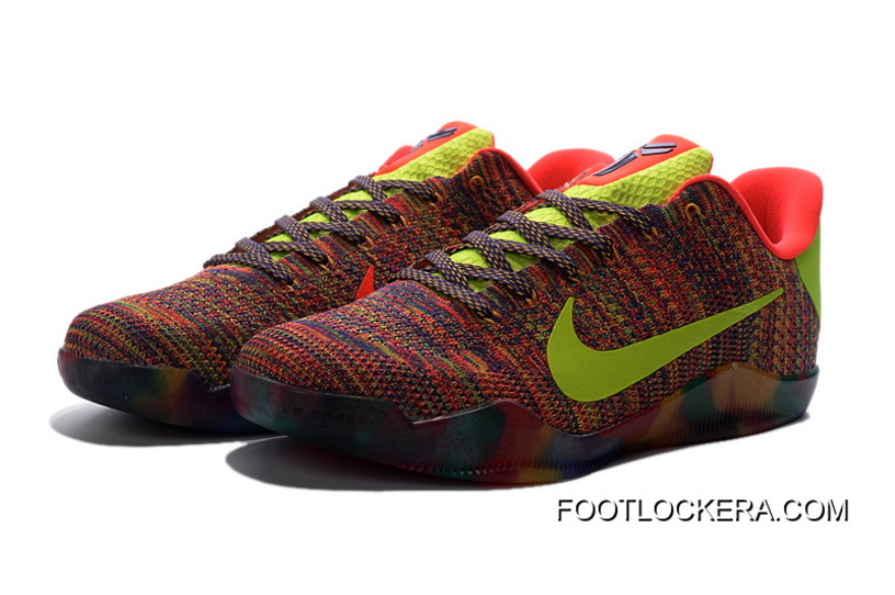 Nike Kobe 11 Elite Weave Colourful Basketball Shoes For Sale