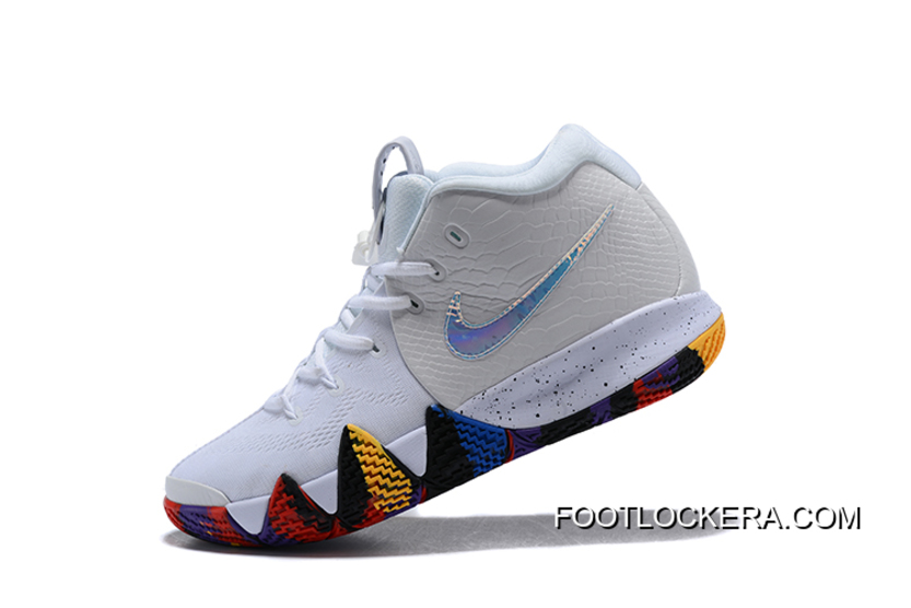"""best service 65e82 28b38 Nike Kyrie 4 NCAA """"March Madness"""" White/Multi-Color For Sale"""