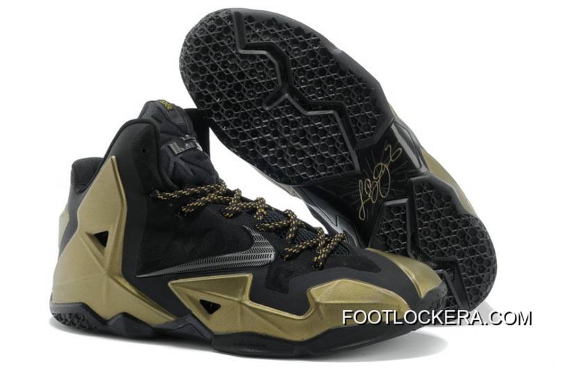 Nike LeBron 11 Black/Metallic Gold Free Shipping