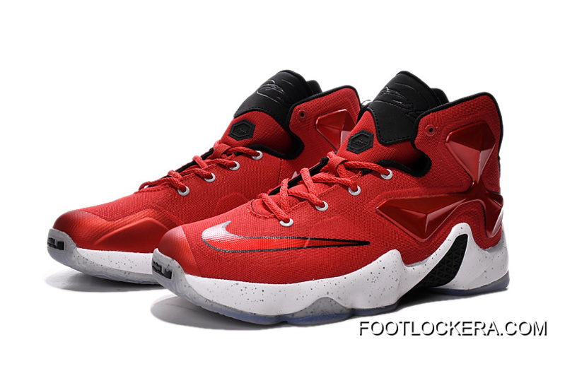 b689a9a35a52 Nike Lebron 13 Gym Red Black White Men Basketball Shoes For New Style