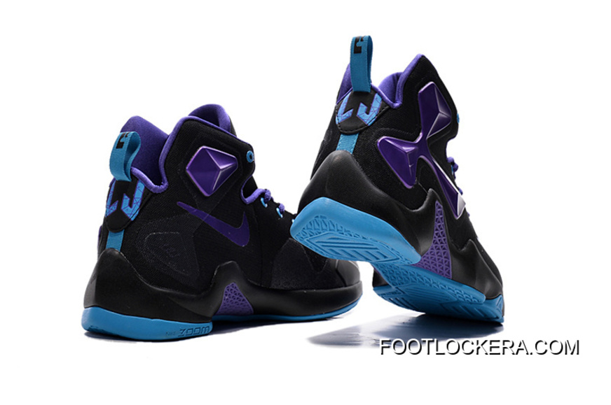 reputable site 1db4d a8192 Nike Lebron 13 Hornets Club Purple Black Vivid Blue For Authentic