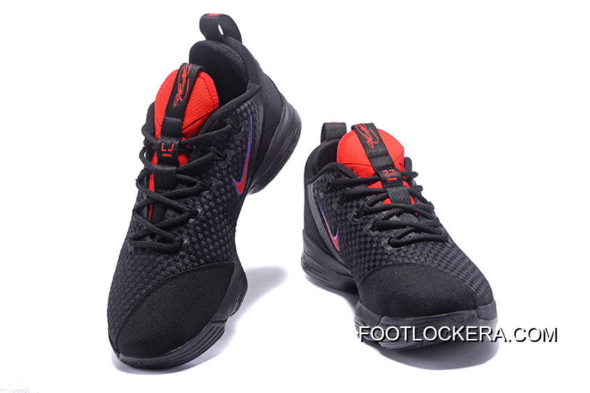 f1758c61db1 Nike LeBron 14 Low Black University Red-Hyper Violet High Quality Authentic