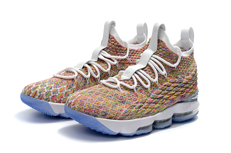 newest d510d 0b052 Nike LeBron 15 'Fruity Pebbles' White And Multi-Color Best