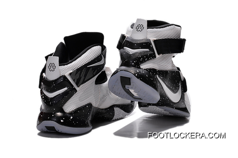Nike LeBron Soldier 9 White Black Basketball Shoe For Sale