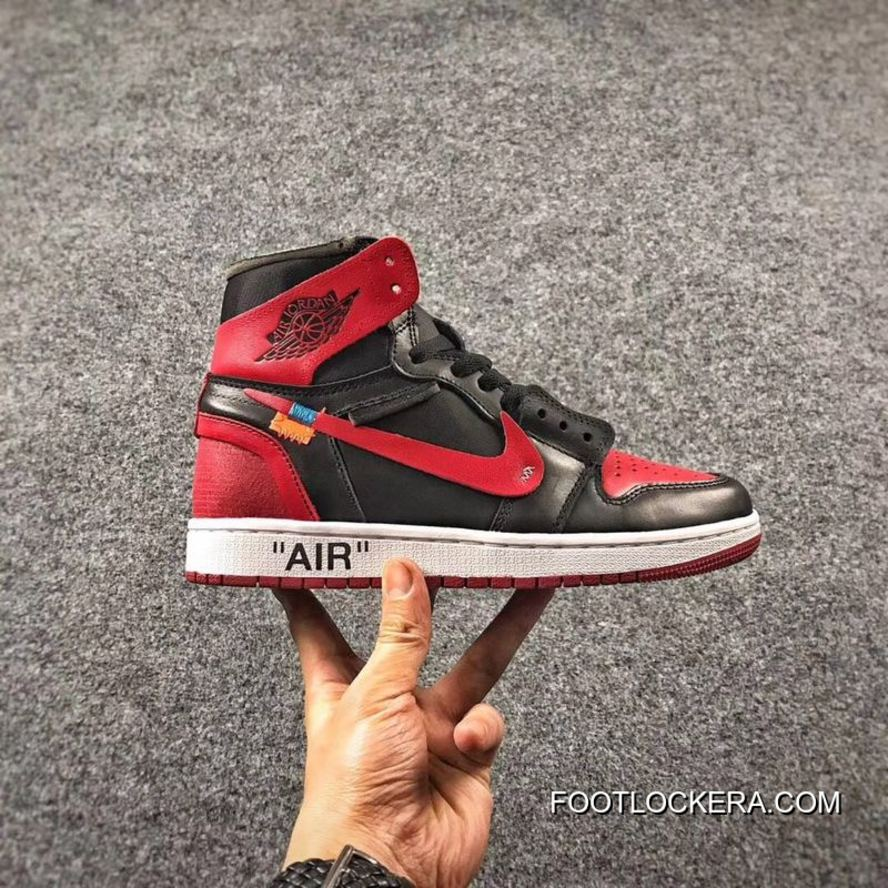 OFF-WHITE X Air Jordan 1 Mens Shoes Bred Super Deals