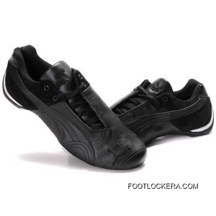 87b3e19f8542 2018 New Year Deals Puma Future Cat GT Ferrari Sculptural Shoes In Black