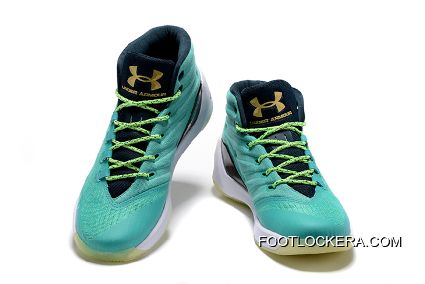 """f75997eeb4a Newest Under Armour Curry 3 """"Reign Water"""" Neptune Sable-Metallic Gold Cheap"""